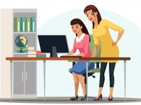 Vector Character Illustration People Work In Office