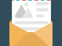 An Open Envelope With Document, Concept Of Letter Flat Icon